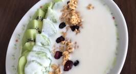 Hình ảnh món Yaourt kiwi yen mạch cho bữa sáng
