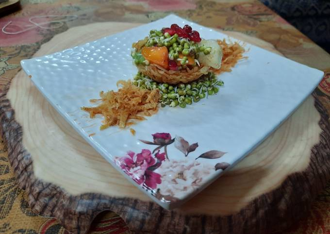 Sprouts fruits katori chaat