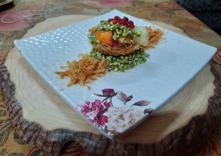 Sprouts fruits katori chaat - Laurie G Edwards