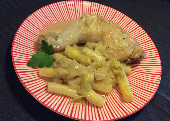 Blanquette de poulet aux asperges