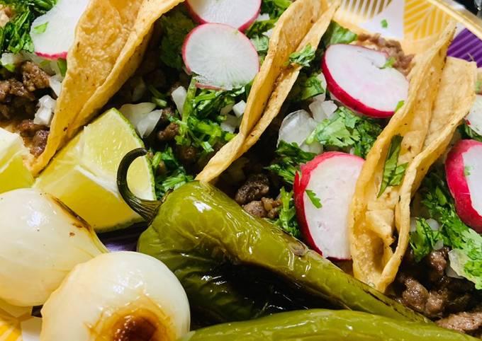 Tacos Asadas: Mexican street tacos