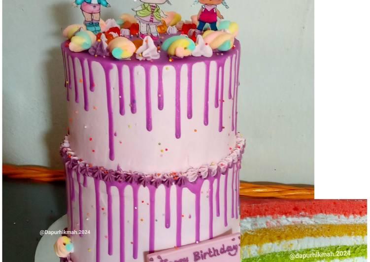 Rainbow Base Cake Ultah