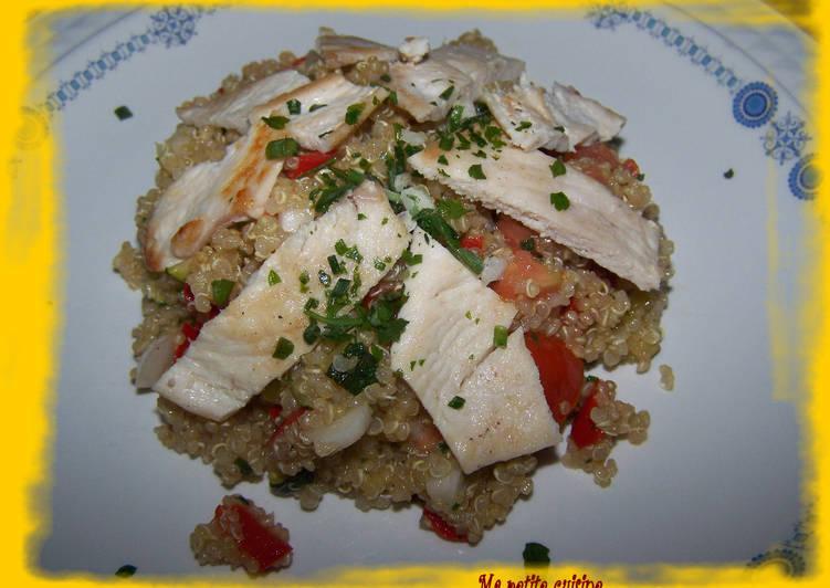 Recette: Savoureux Salade de quinoa aux légumes et poulet