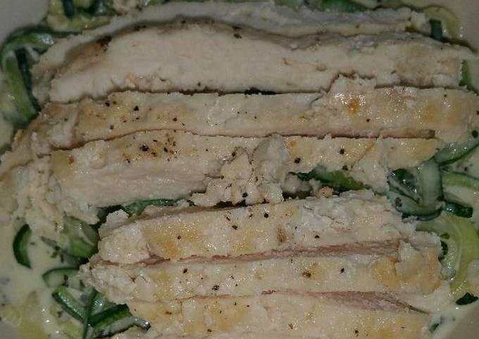Pesto Z'paghetti with Chicken