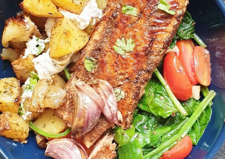 Saumon laqué et légumes gourmands