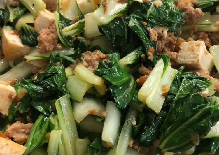 Grandma's Sautéed Bok Choy w/ Tofu
