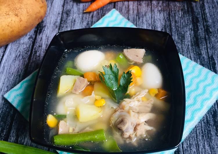 Sayur Sop Ayam Komplit