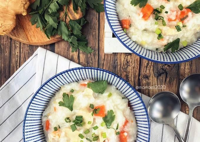Bubur Nasi Ayam + Lobak