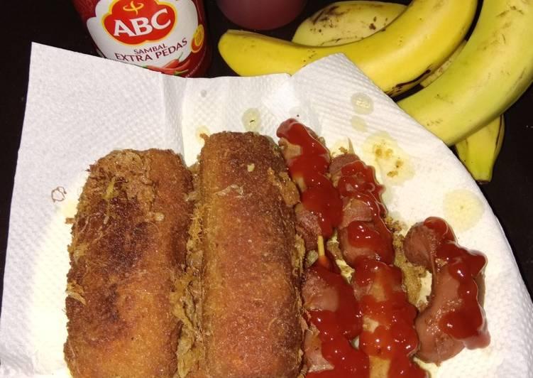 Resep Sausage wrap alias sosis Roti gulung (lunchbox suami part 20) Top