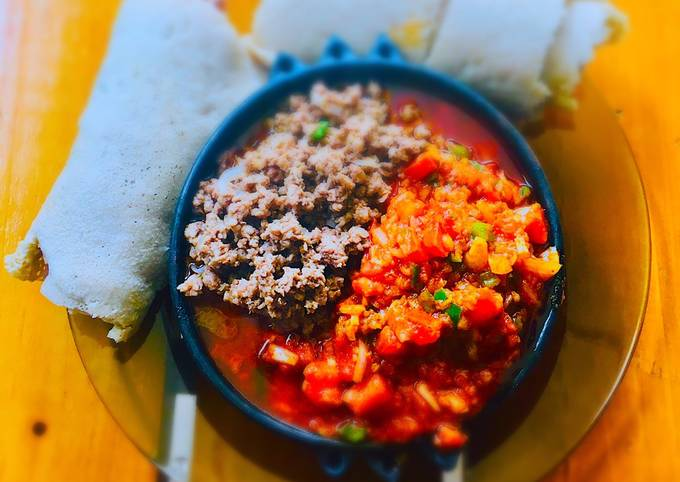 Ethiopian stir fried beef with veggies