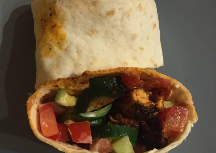 Recette: Parfait Wraps courgette tomate concombre viande