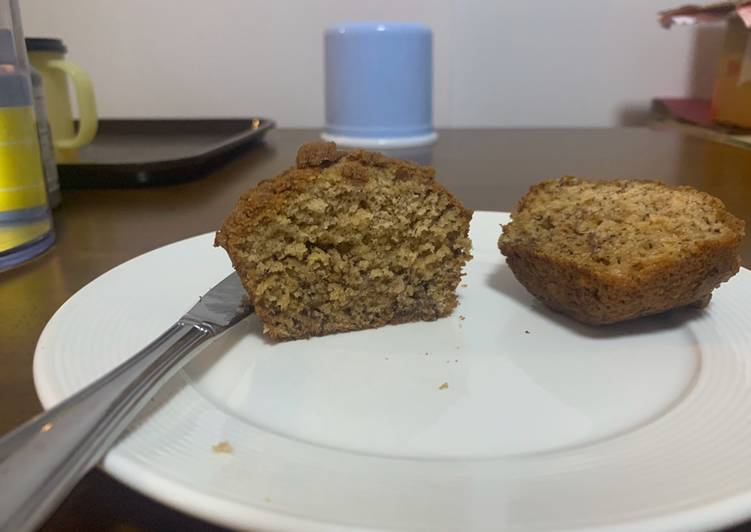Recipe: Delicious Banana crumb muffins
