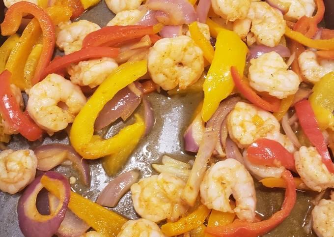 1 pan shrimp fajitas