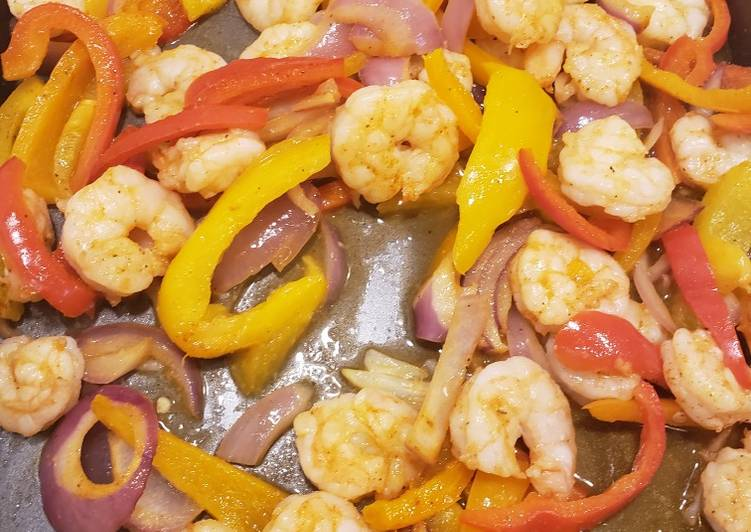 1 pan shrimp fajitas