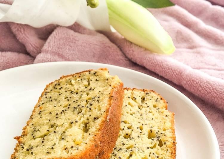 Cake au citron et graines de pavot 🍋