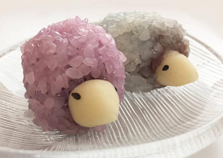 The Best Dinner Easy Autumn Wagashi: <Hedgehog like Mochi>