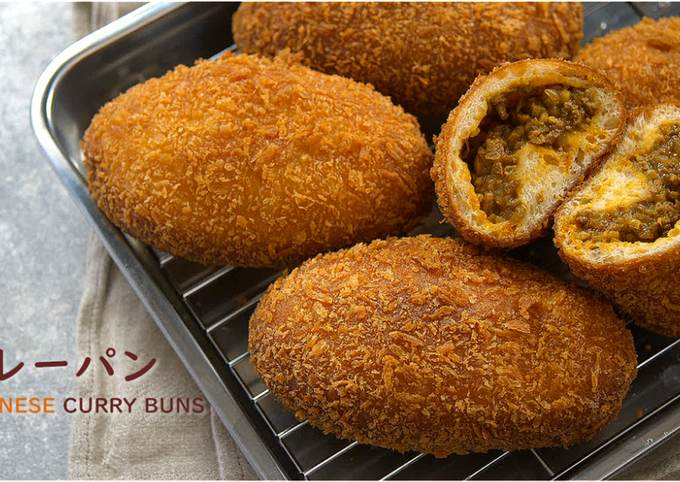 CURRY BUNS (Japanese Deep-fried Curry Buns, Kare-Pan)