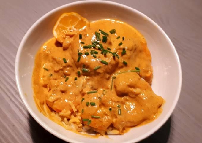 Crevette curry coco