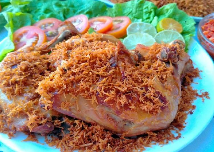 Cara Memasak Resep Mantab Dari Ayam goreng serundeng Kelapa Sederhana