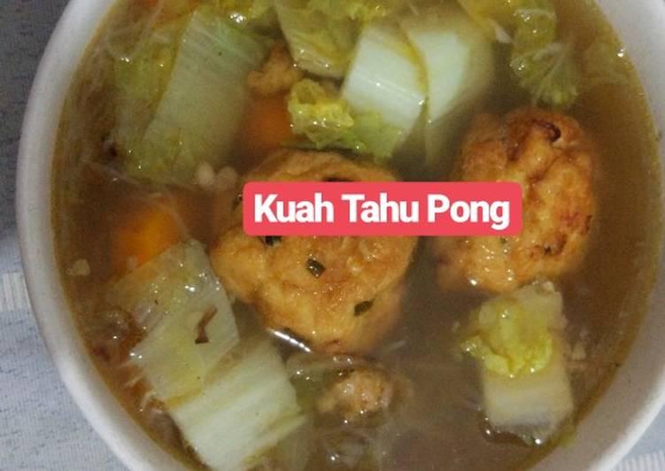 Resep Kuah Tahu Pong oleh Marsha Jonathan - Cookpad