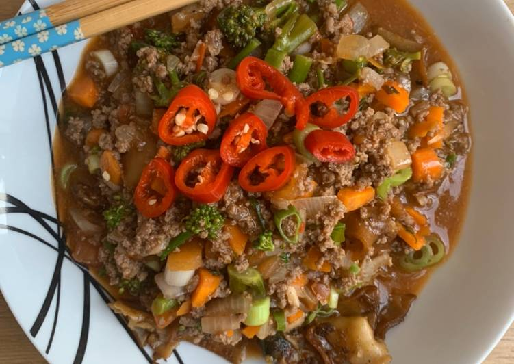Char Keow Teow with beef gravy