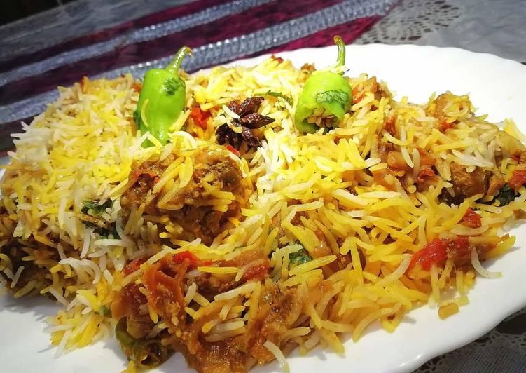 Recipe of Ultimate Sindhi Biriyani #cookpadapp