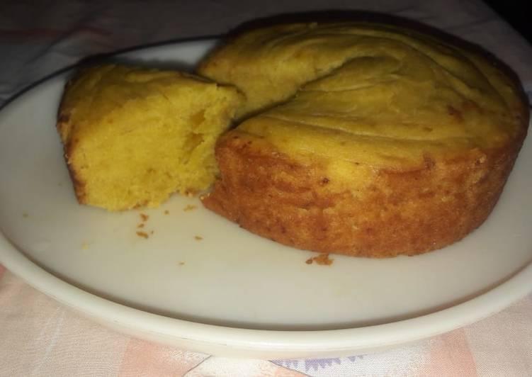Egg less mango cake in cooker