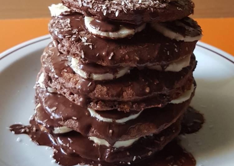 Pancake al cacao con albumi