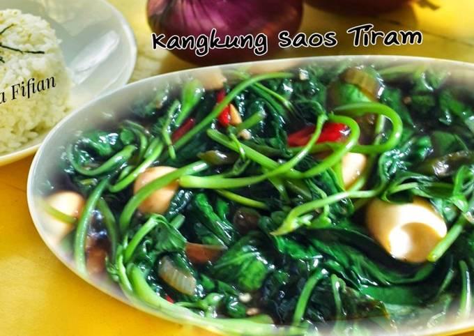 kangkung saos tiram - resepenakbgt.com