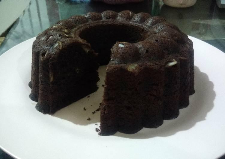 Bolu Coklat Pisang (Choco Banana Cake) - Kukus