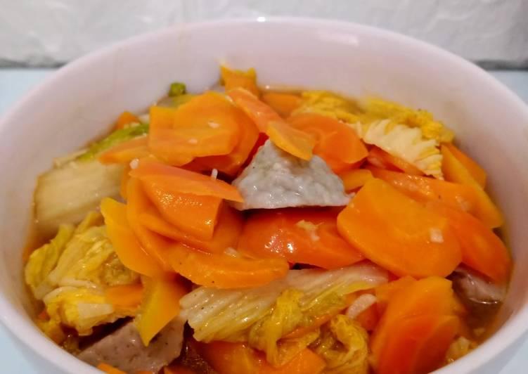 Resep Capcay kuah kental bahan seadanya Anti Gagal