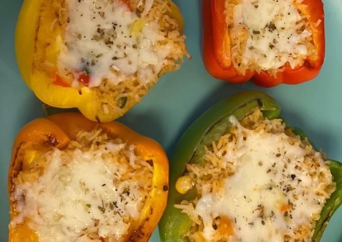 Stuffed bell pepper - veg Mexican rice