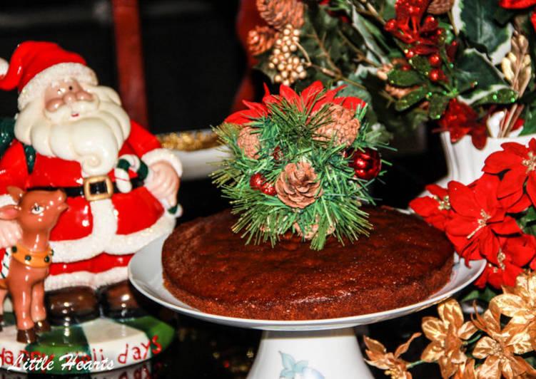 Chocolate Christmas Fruit Cake