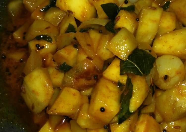 10 Minute Easiest Way to Make Love Instant raw mango pickle