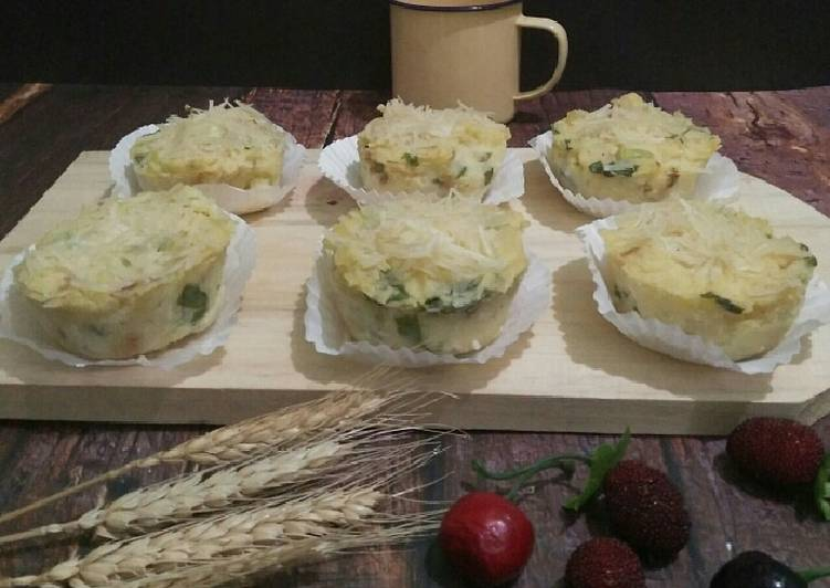Resep Chesee vegetable baked potato