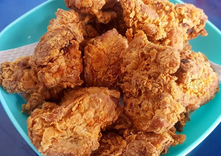 Ayam goreng tepung simple