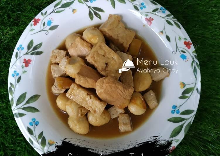 Semur Ayam, Tahu, Kentang, & Telur Puyuh