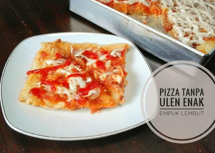 Pizza tanpa ulen empuk lembutttt 🍕🍕 anti gagal