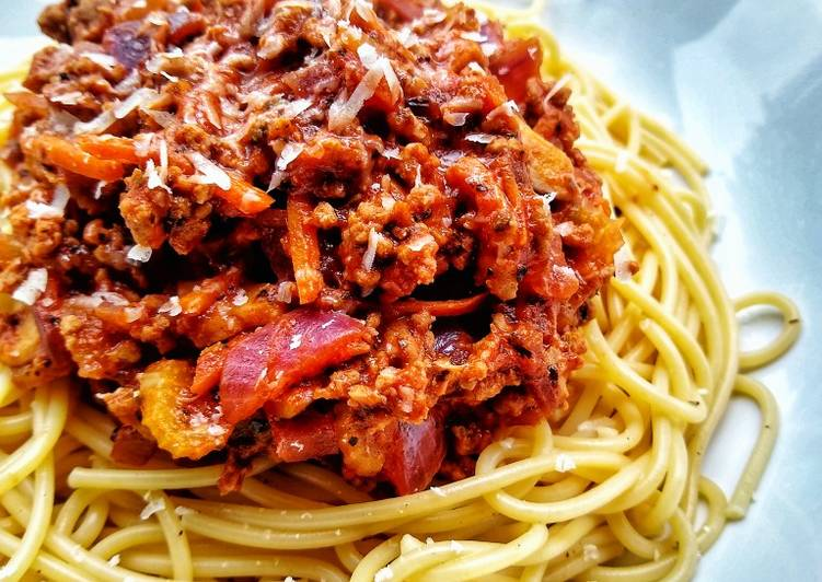 Spaghetti Bolognese (With Turkey Mince)