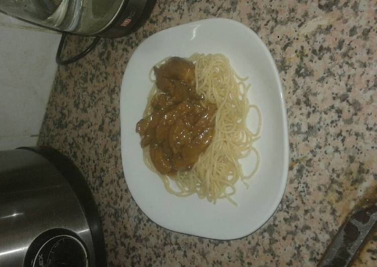 Easiest Way to Make Favorite Spaghetti & steak
