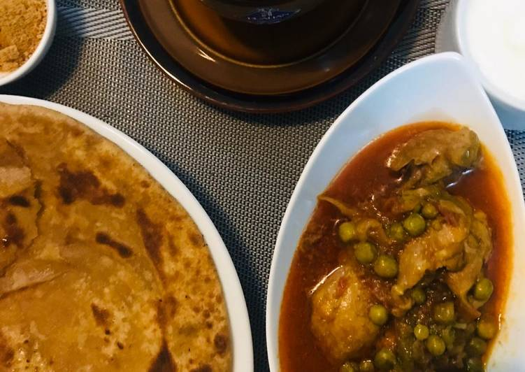 Recipe of Perfect Chicken and peas curry