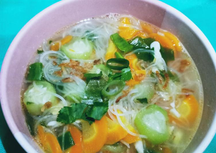 Langkah Mudah Bikin Sup Oyong Bihun Sempurna Resep Sop Dan Soto Yang Populer