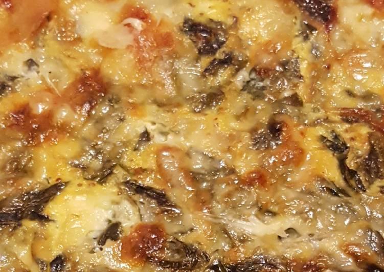 Tarte aux blettes et fromage à raclette