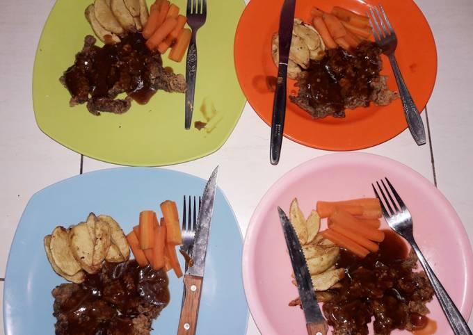 Beef Crispy Steak Souce BBQ Endesss