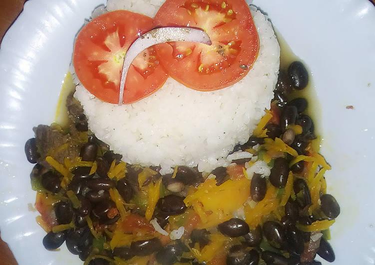 Rice with Njahi beef