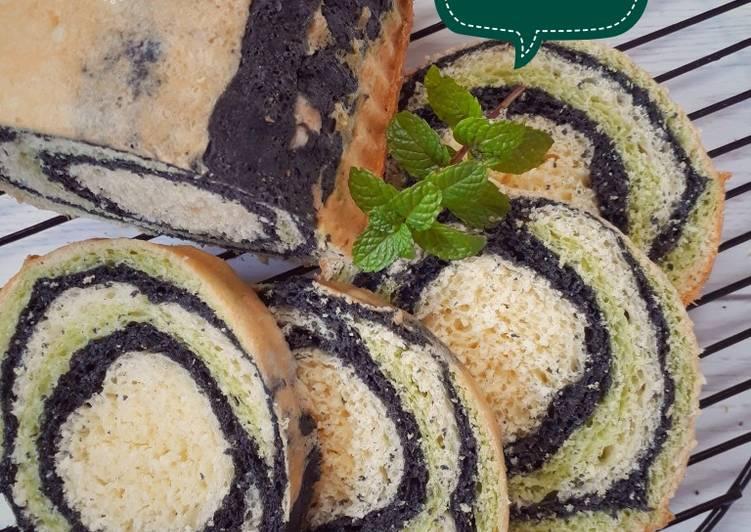 623. Roti Tawar Susu Eggless Charcoal Matcha