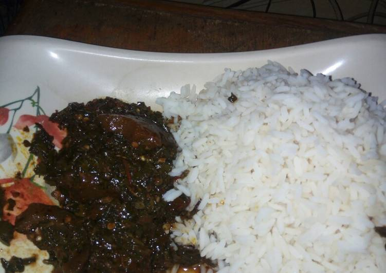 White Rice and vegetable stew