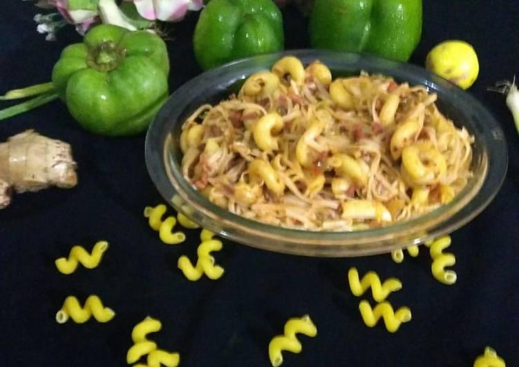 Chicken with vegitable pasta