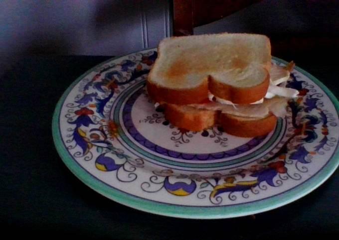 Recipe of Homemade Healthy + Delicious Breakfast Sandwich with Turkey ham and Queso de Hebra (Very Easy to Make)😉😋