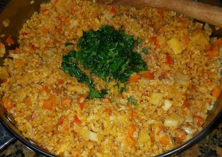 Wheat vegetable bulgur